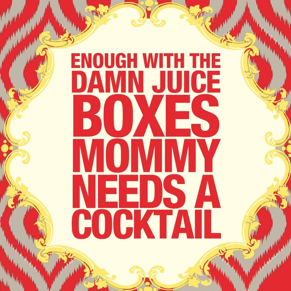 Ideal Home Range 20 Count 3-Ply Paper Naughty Betty Cocktail Napkins, Juice Boxes