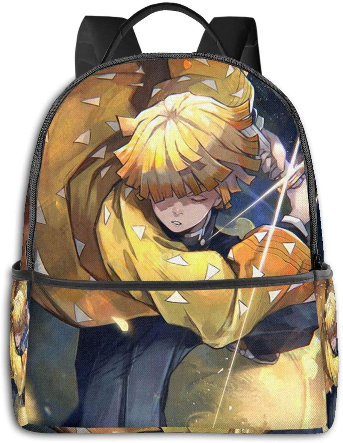 Demon Slayer Kimetsu no Yaiba Laptop Backpack Water Resistant Travel Bag, Durable Laptops Backpack for Women & Men College Bookbags