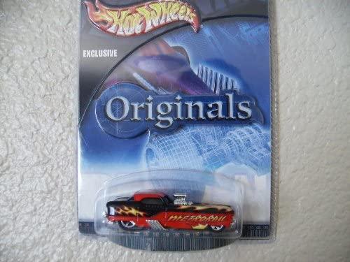 Hot Wheels Metrorail 2002 Target Originals #10 Red and Black W/flames W/5sp's