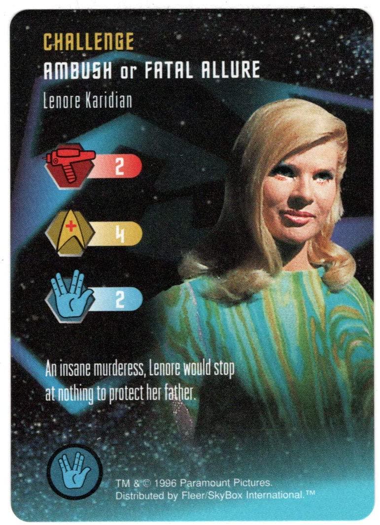 Lenore Karidian - Star Trek: The Card Game (Trading Card) Challenge Ambush or Fatal Allure - Skybox 1996 Mint