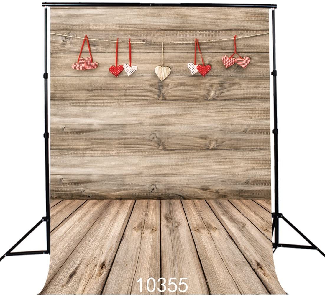 SJOLOON 6x9FT Valentines Day Backdrops for Photography Wood Photo Background Valentines Backdrop Computer-Printed Vinyl Backdrop JLT10355