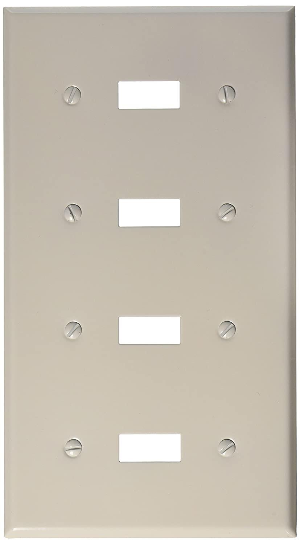 Morris 83042 Painted Steel Wall Plate, 4 Gang, White