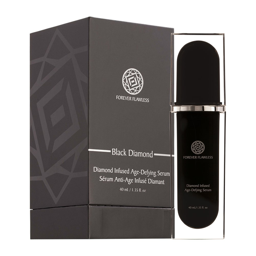 Forever Flawless Black Diamond Infused Age Defying Serum Designed for Anti Wrinkle, Anti Aging, Gentle Exfoliating for Women, Young Again Facial System FF41 (1.35 oz)