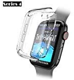 Fogtek Apple Watch Screen Protector Case Series 5 & Series 4 44mm Full All Around Protection Cover Case Soft Clear and Ultra Thin