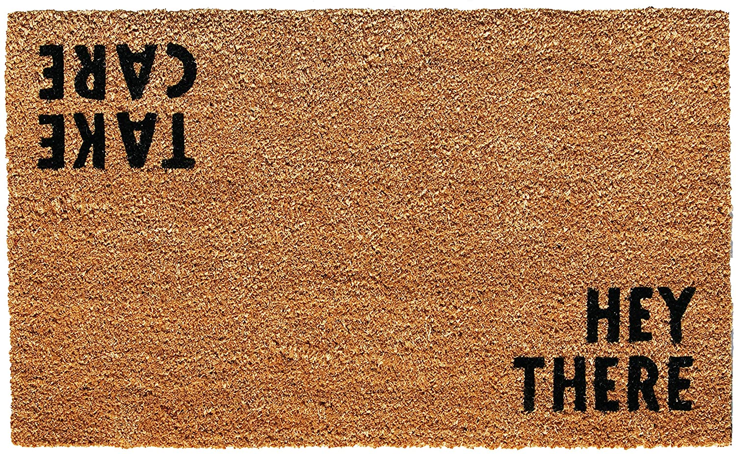 Calloway Mills 100511729 Hey There Doormat, 17 x 29, Natural/Black