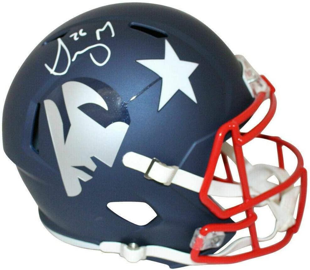 Sony Michel New England Patriots Signed Full Size Replica AMP Helmet JSA - Autographed NFL Helmets