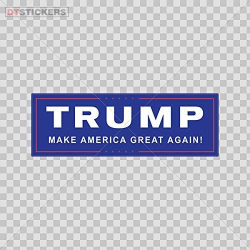Hobby Vinyl Decal Donald Trump Make America Great Again Bumper Sticker Hobby Decor 6 X 2.02 in.