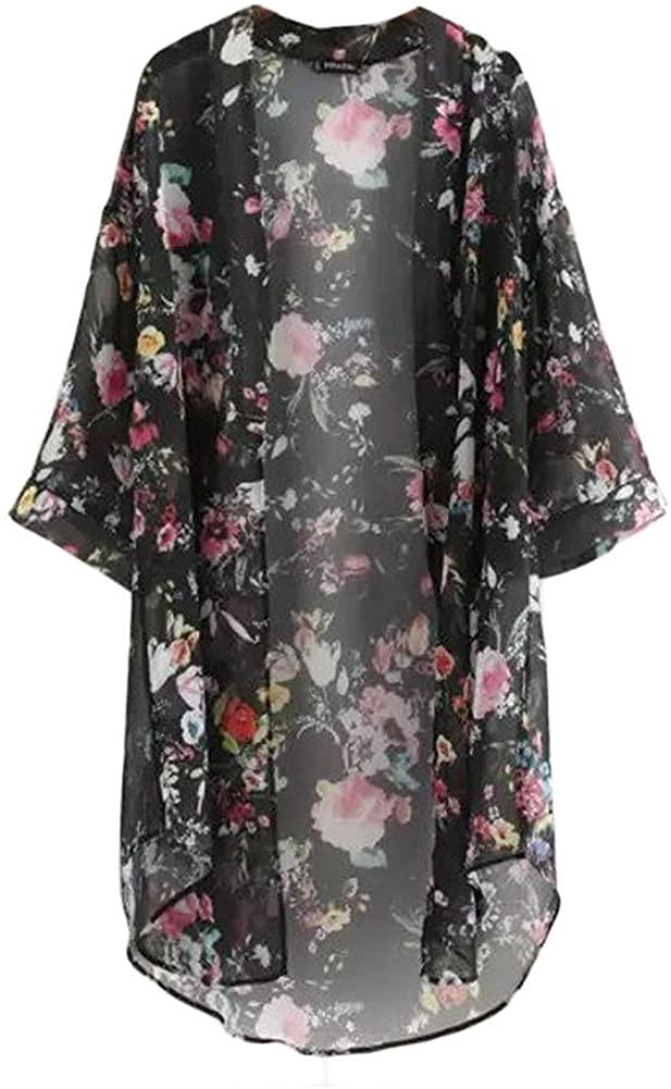 Mercu Sunproof Cardigan Women Chiffon Beach Bikini Cover Up Kimono Coat