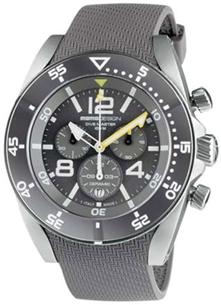 Momodesign Dive Master Sport Mens Analog Quartz Watch with Rubber Bracelet MD1281LG-41