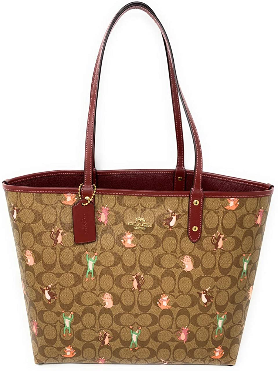 COACH Ribbon Bouquet Print Reversible City Tote