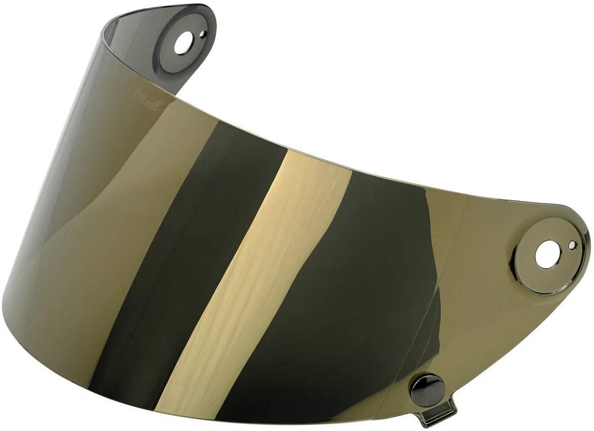 Biltwell unisex-adult (SA-GLD-GS-SD) Gringo S Flat Shield-Gold Mirror Anti-Fog, One Size