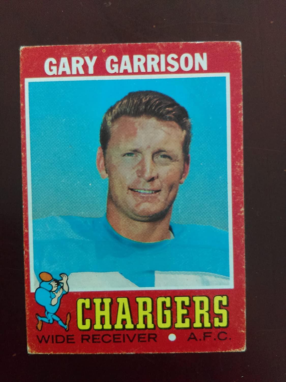 Gary Garrison - 1971 Topps # 172 - San Diego Chargers / San Diego State Aztecs (Football Card)