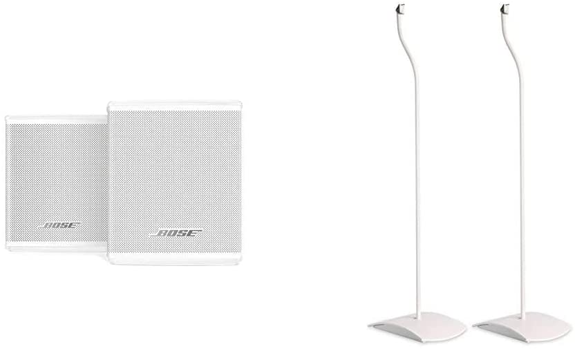 Bose Surround Speakers - White & (722139-0020) UFS-20 Series II Universal Floor Stands,White