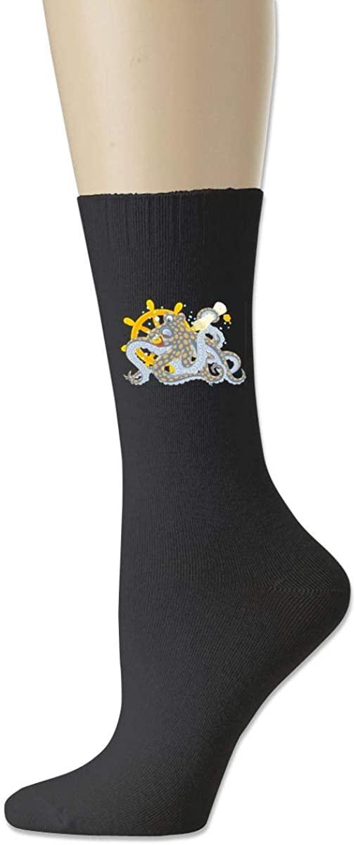 Men Women Socks Wheel Rudder Octopus Tentacle Tube Dress Sock Crew Long Hose