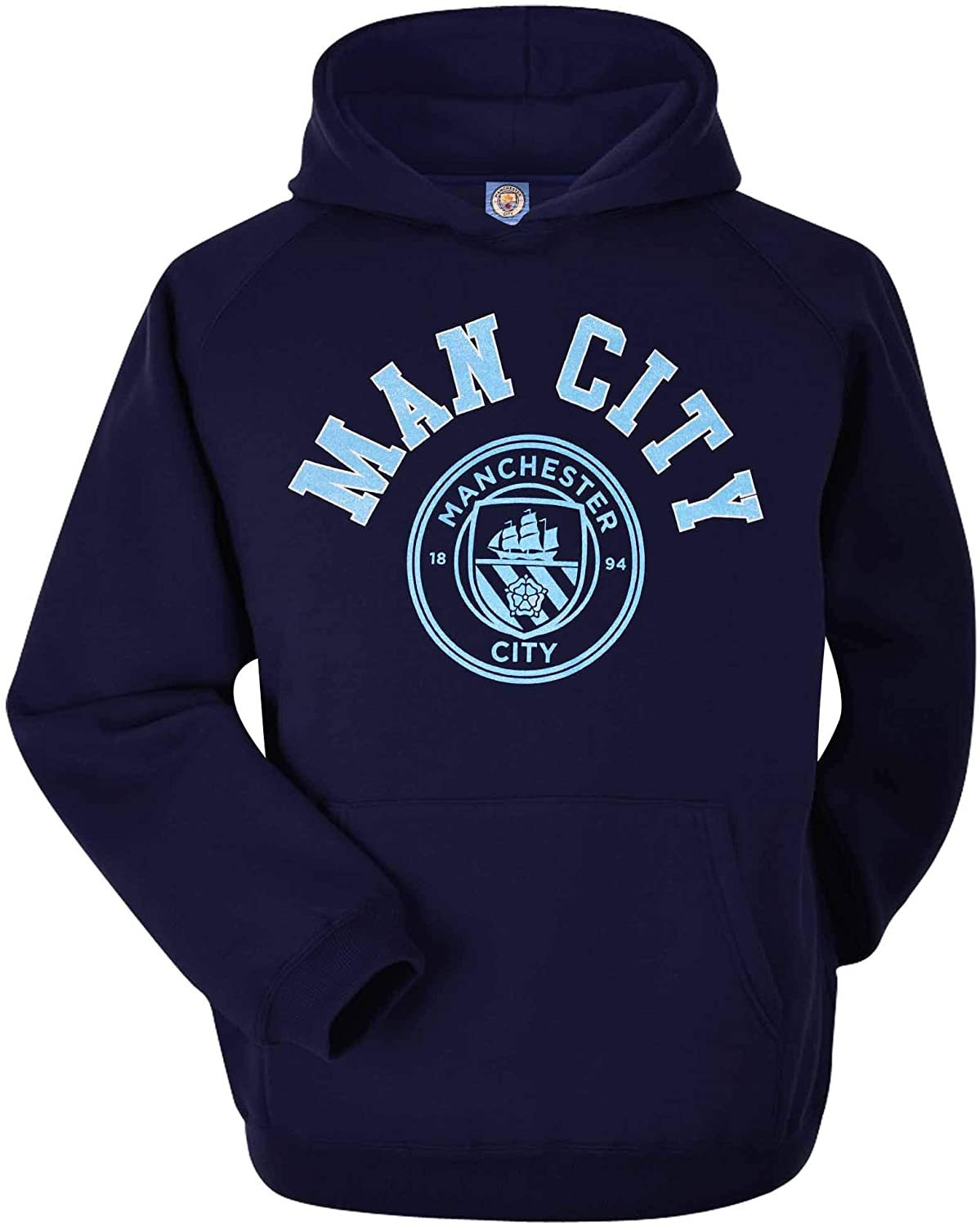 Official Manchester City Premier League Soccer Sweatshirt with Hood (Adult Sizes S to 2XL)