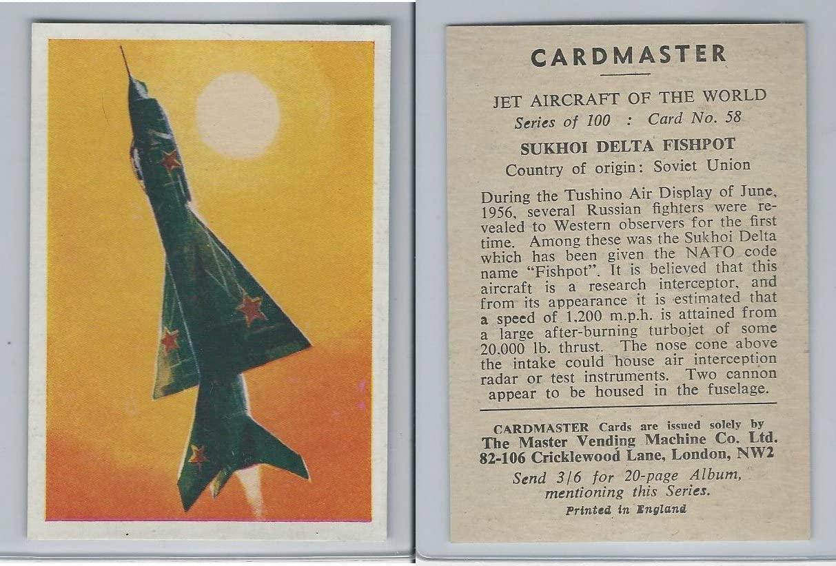 1958 Cardmaster, Jet Aircraft of World, 58 Sukhoi Delta Fishpot, ZQL