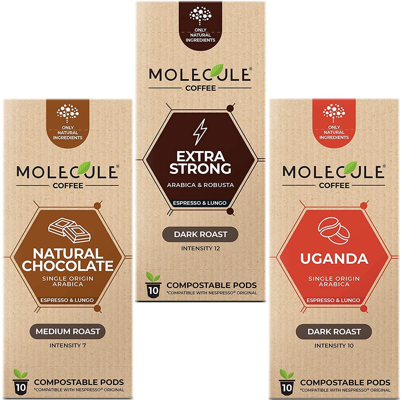 Chocolate + Uganda + Extra Strong | Nespresso Compatible Compostable Pods | Espresso Lungo Ristretto
