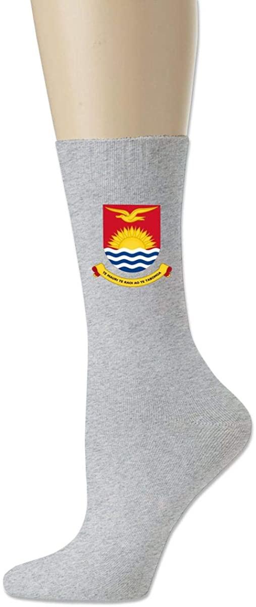 Men Women Socks Coat Of Arms Of Kiribati Boot Tube Dress Sock Crew Long Hose