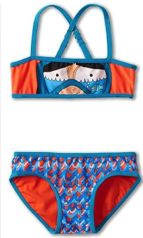 Little Marc Jacobs Miss Marc Snorkeling Bikini Swimsuit Set Red