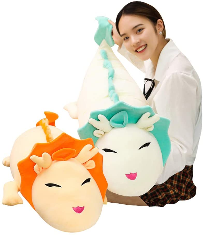 Hofun4U Dragon Plush Pillow, Dragon Stuffed Animals Doll Toy, Soft Giant Dragon Pillow Home Decoration Christmas Birthday Gift for Adults Kids Girls Boys (36/44/52/60 Inches,3 Colors)