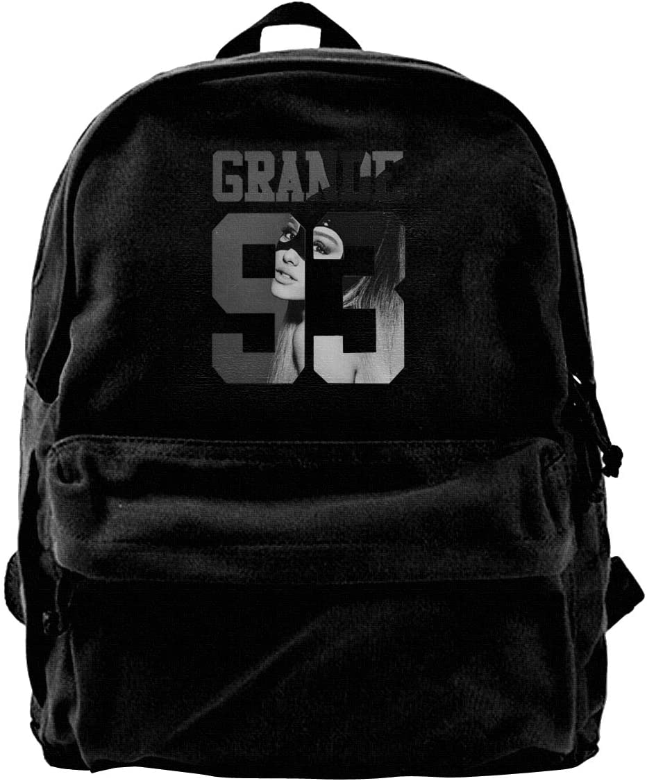 Canvas Backpack Ariana Singer Grande Innovative Neutral Minimalist Style Black One Size