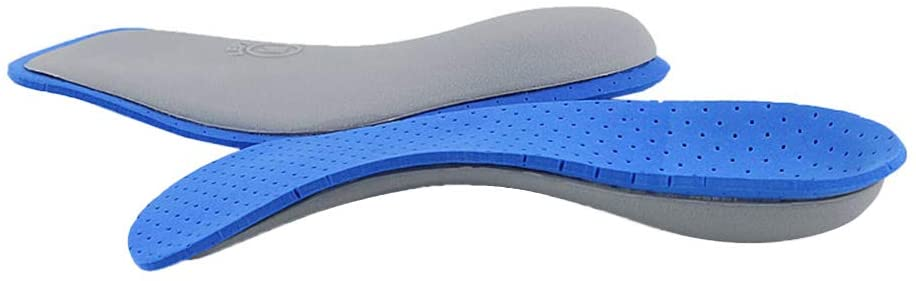 Healifty EVA Shoe Inserts Orthotic Arch Support Insoles Shock Absorbing Feet Pad (Blue) Size S