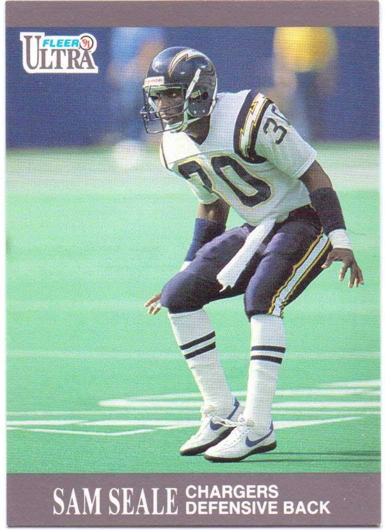 Sam Seale 1991 Fleer Ultra #128 - San Diego Chargers