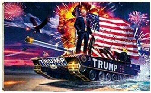 American Wholesale Superstore 3x5FT Flag Trump ON A Tank Keep America Great MAGA Donald President Eagle USA