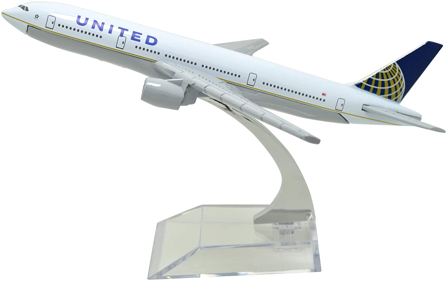 TANG DYNASTY(TM) 1:400 16cm B777 United Airlines Metal Airplane Model Plane Toy Plane Model