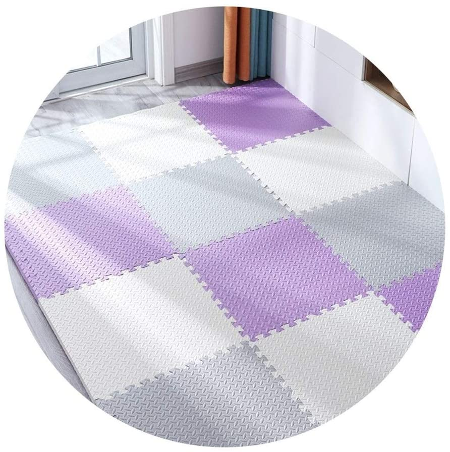 XSDAA Puzzle Play Mats, Waterproof Durable Splicing for Children's Room Living Room Bedroom Interlocking Floors, 1.2/2.5cm Thick (Color : D, Size : 60x60x1.2cm 10pcs)
