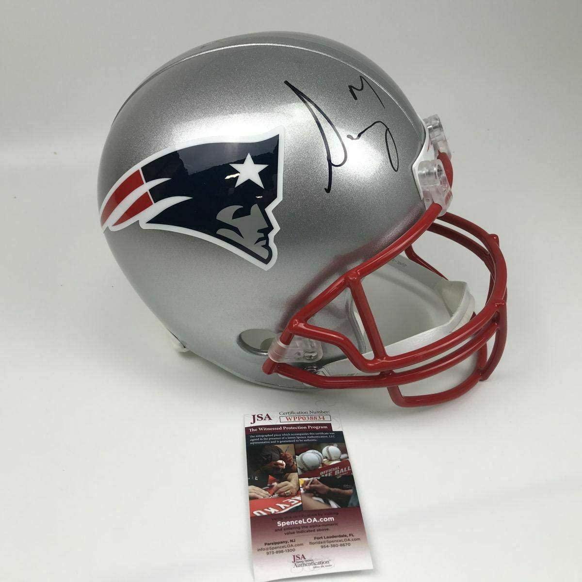 Autographed/Signed SONY MICHEL New England Patriots Full Size FS Helmet JSA COA - Autographed NFL Helmets