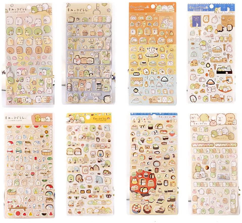 C-Pioneer 5 Sheets DIY Calendar Scratch Pad Decal Diary Paper Album Scrapbook Decorative Sticker