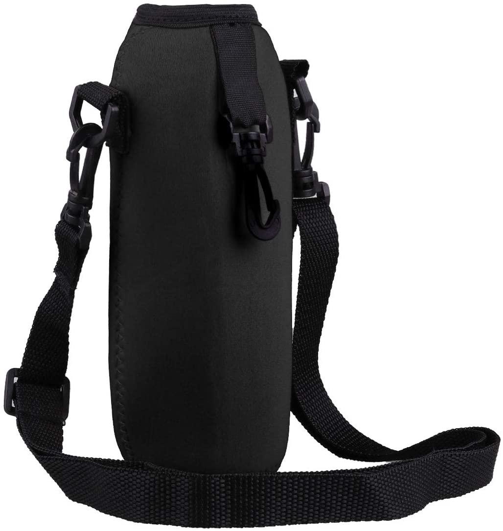 iiniim 750ml Insulated Neoprene Water Bottle Carrier Holder Bag Pouch with Adjustable Shoulder Strap