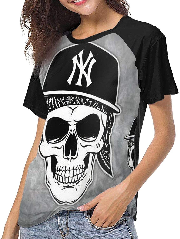 Tricknice Ne-W York Yank-Ees Baseball T Shirt Top Womens XL