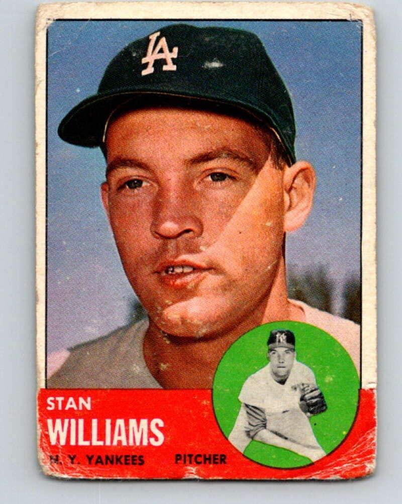 (HCW) 1963 Topps MLB #42 Stan Williams New York Yankees V10366