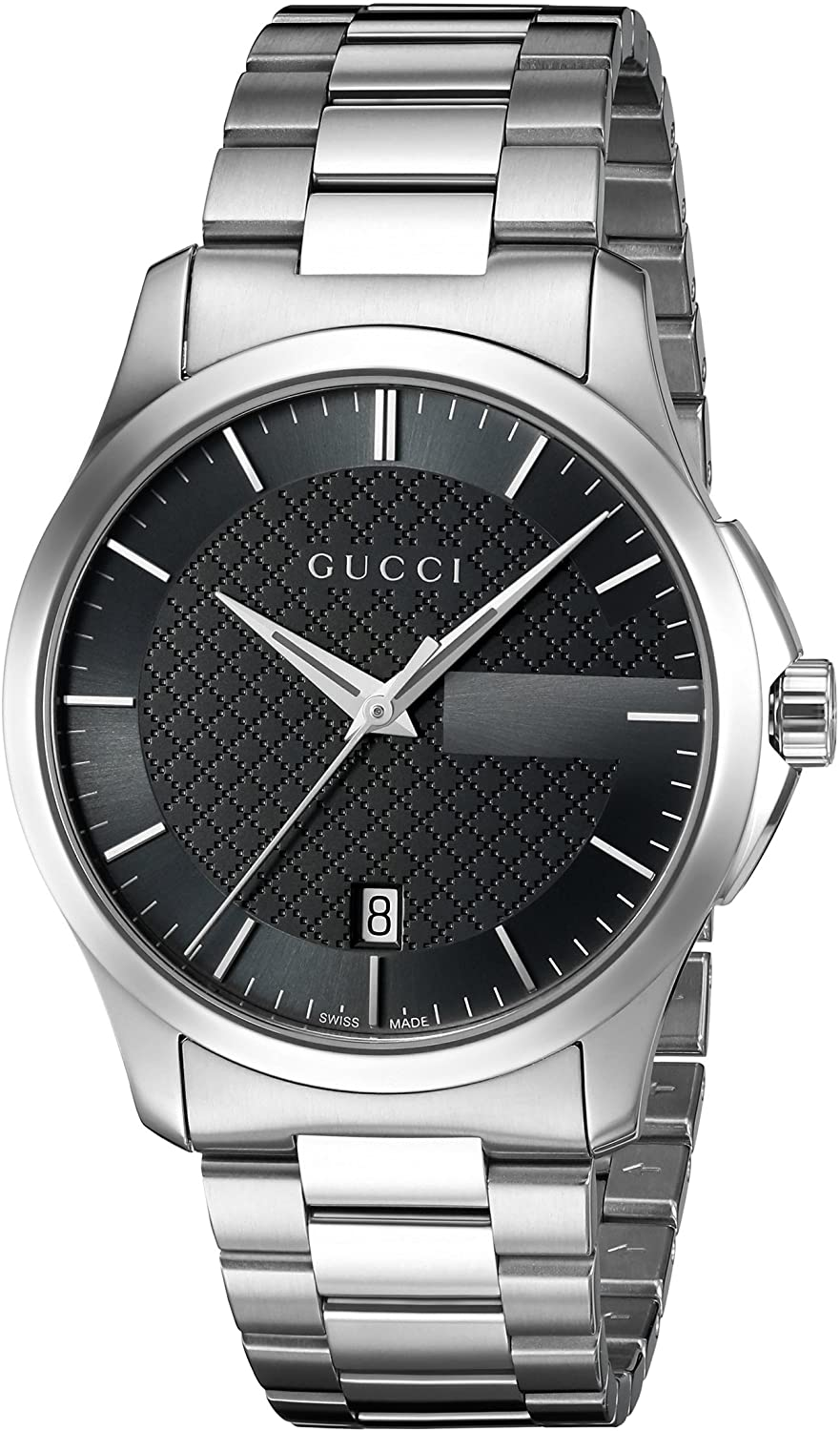 Gucci 'G-Timelss' Quartz Stainless Steel Watch, Color:Silver-Toned (Model: YA126457)