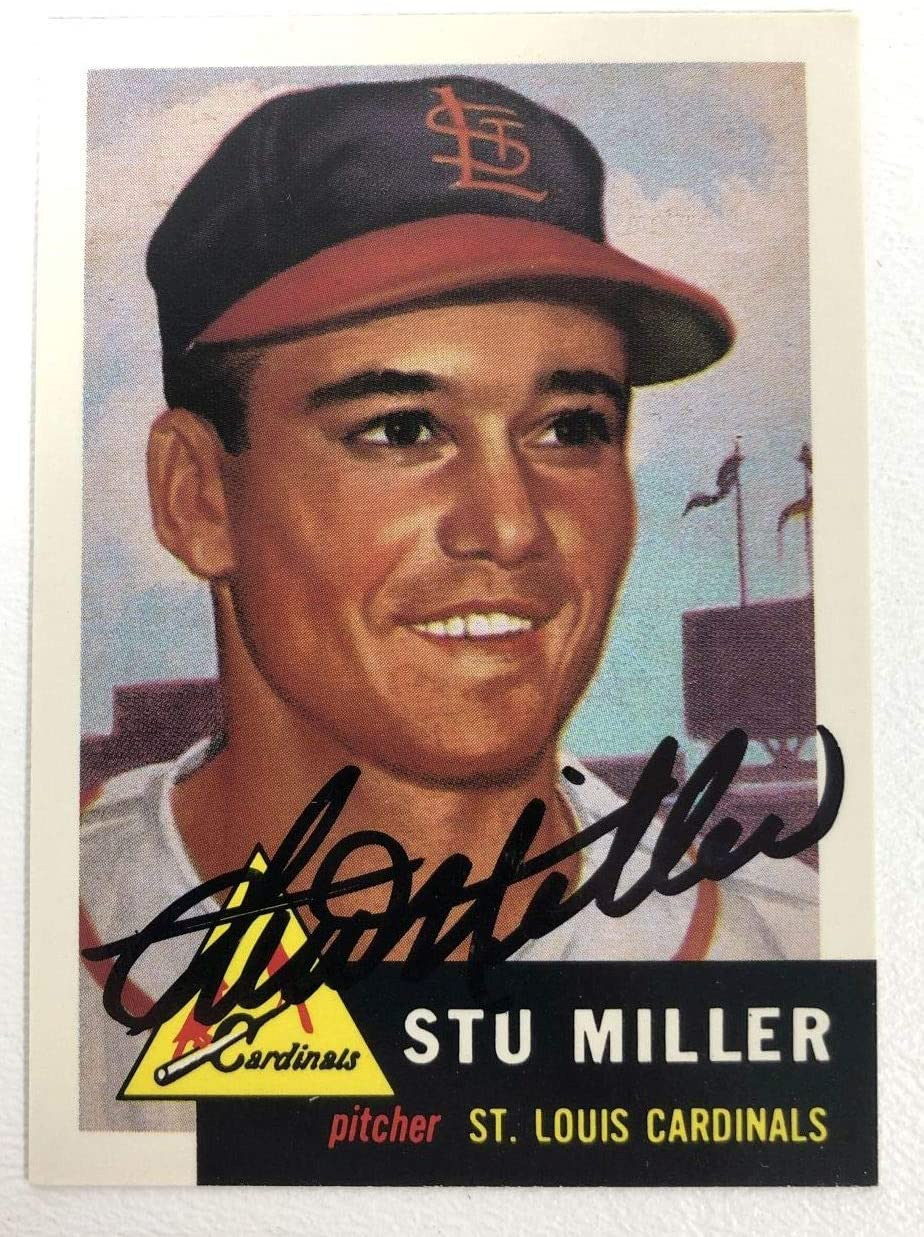 Stu Miller Signed Autographed 1953 Topps Archives Baseball Card - St. Louis Cardinals