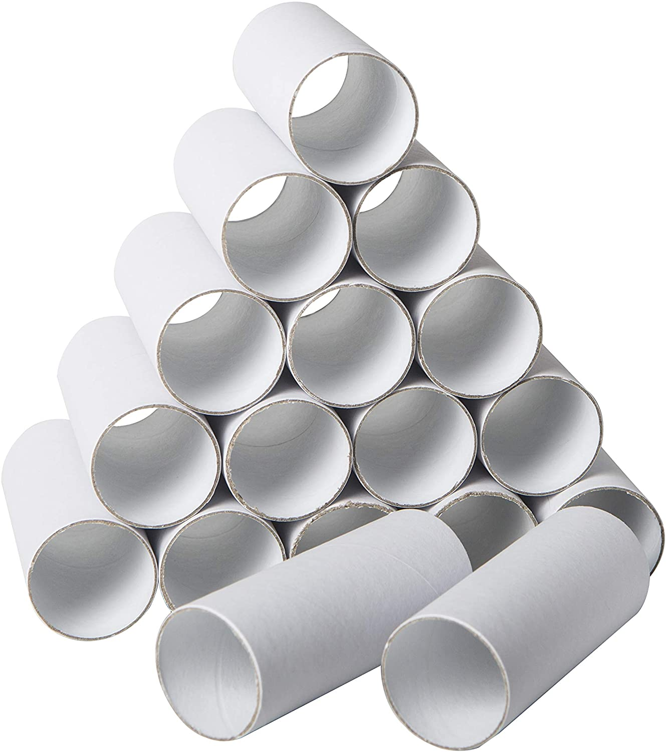 30 Pack Craft Rolls - Round Cardboard Tubes - Cardboard Tubes for Crafts - Craft Tubes - Paper Tube for Crafts - 1.57 x 3.9 Inches - White