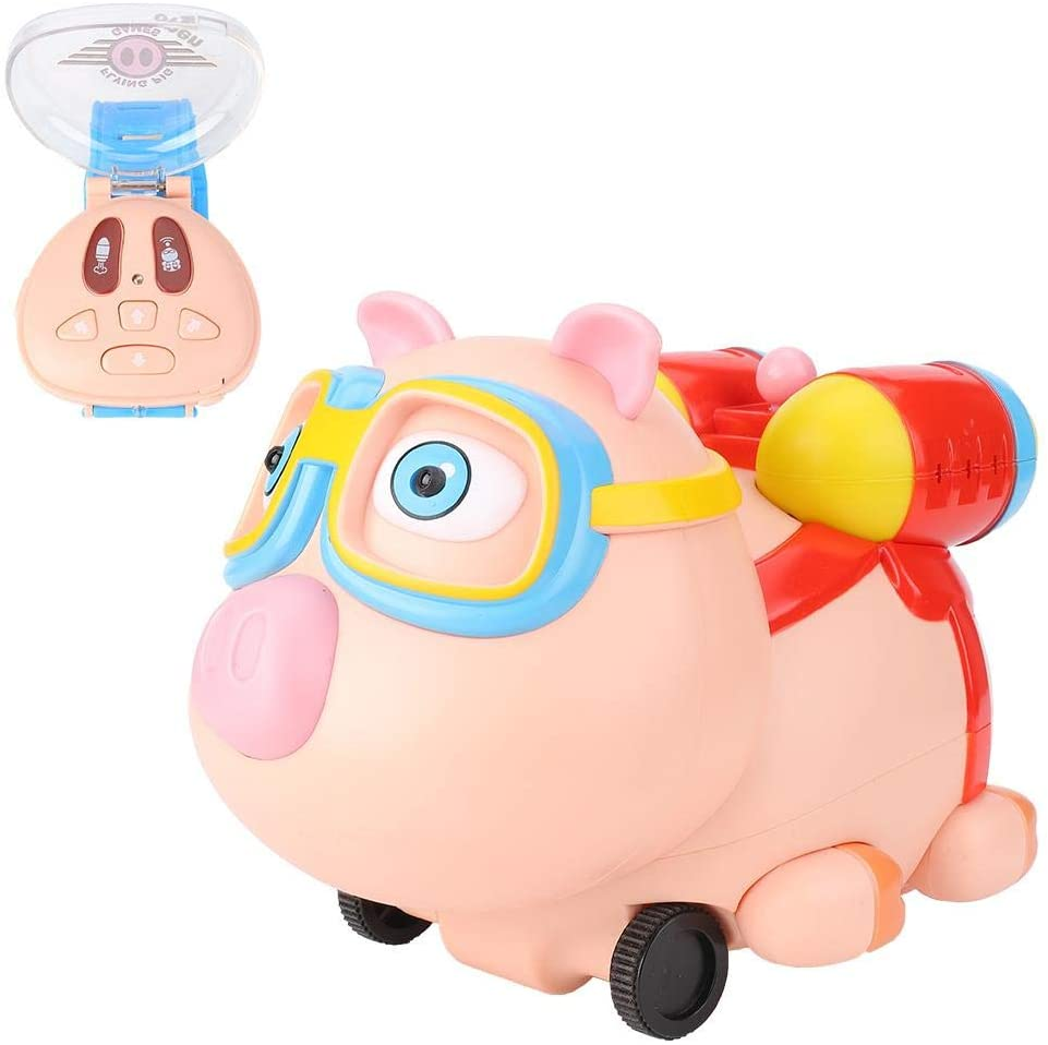 ZJchao Toy RC Car, Kids Mini Cartoon Pig Car Spray Humidifier Watch Remote Control Children Gifts Toy
