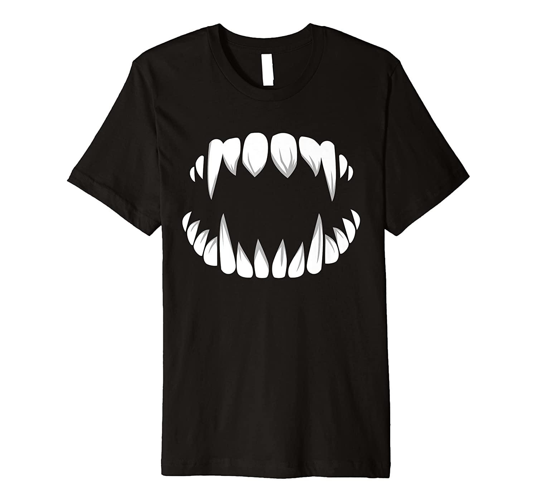 Vampire Teeth Dracula Fangs Halloween Monster Costume Outfit Premium T-Shirt