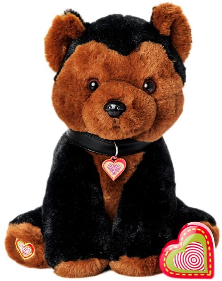 My Baby's Heartbeat Bear Furbaby's Recordable Stuffed Animals 20 sec Heart Voice Recorder for Ultrasounds and Sweet Messages Playback - German Shepherd