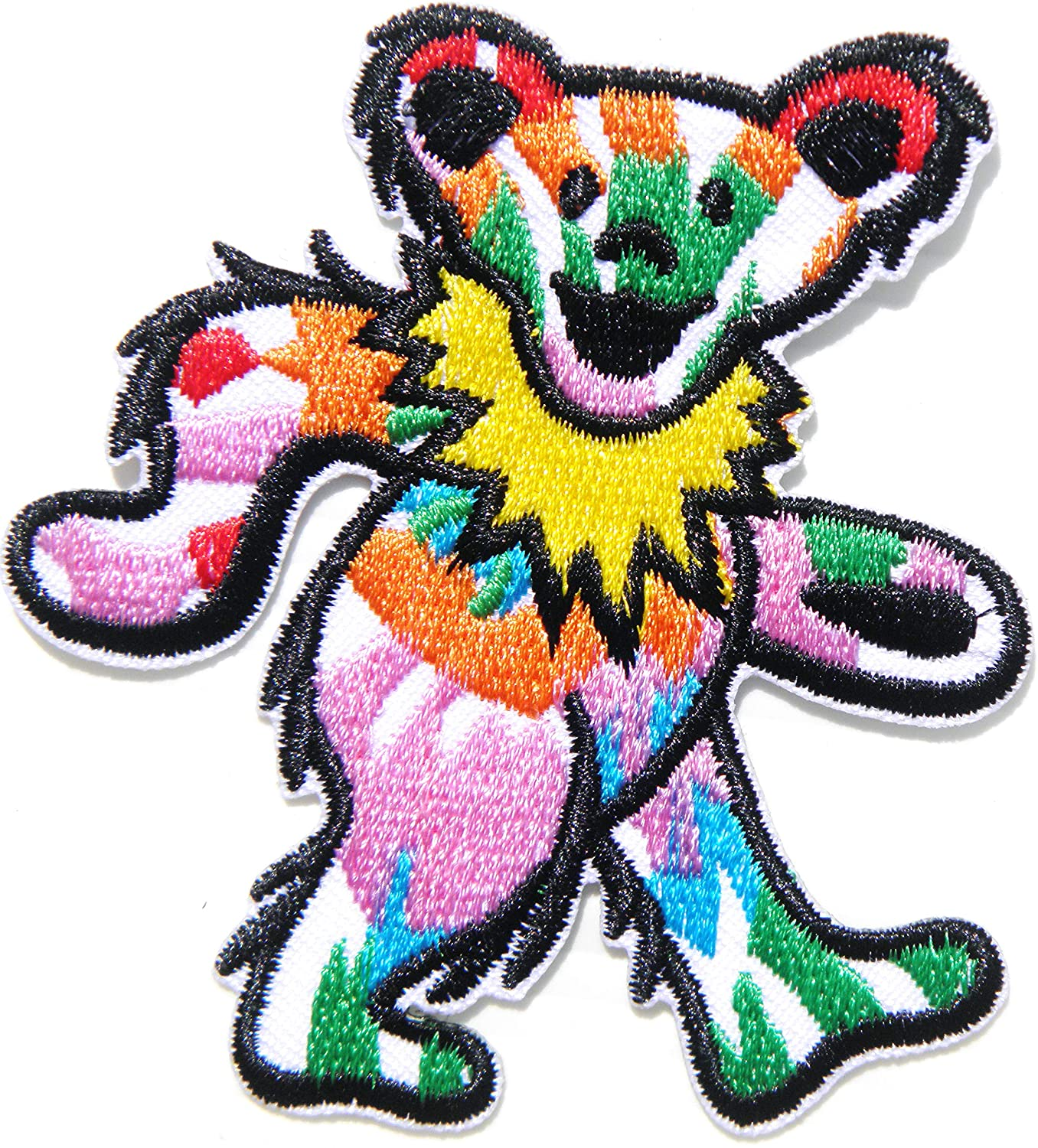 Teddy Bear Colorful Figure Doll Patch Iron on Embroidery Applique Clothes for T Shirt Jacket Vest Bag Craft Costume Logo Badge Sign Emblem Gift