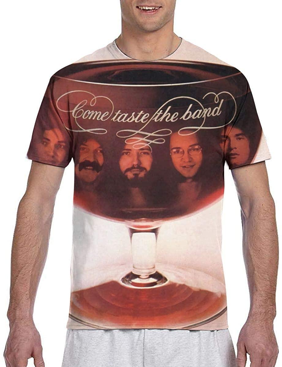 Maria D Miller Men Deep Purple Come Taste The Band Breathable Outdoor T-Shirt