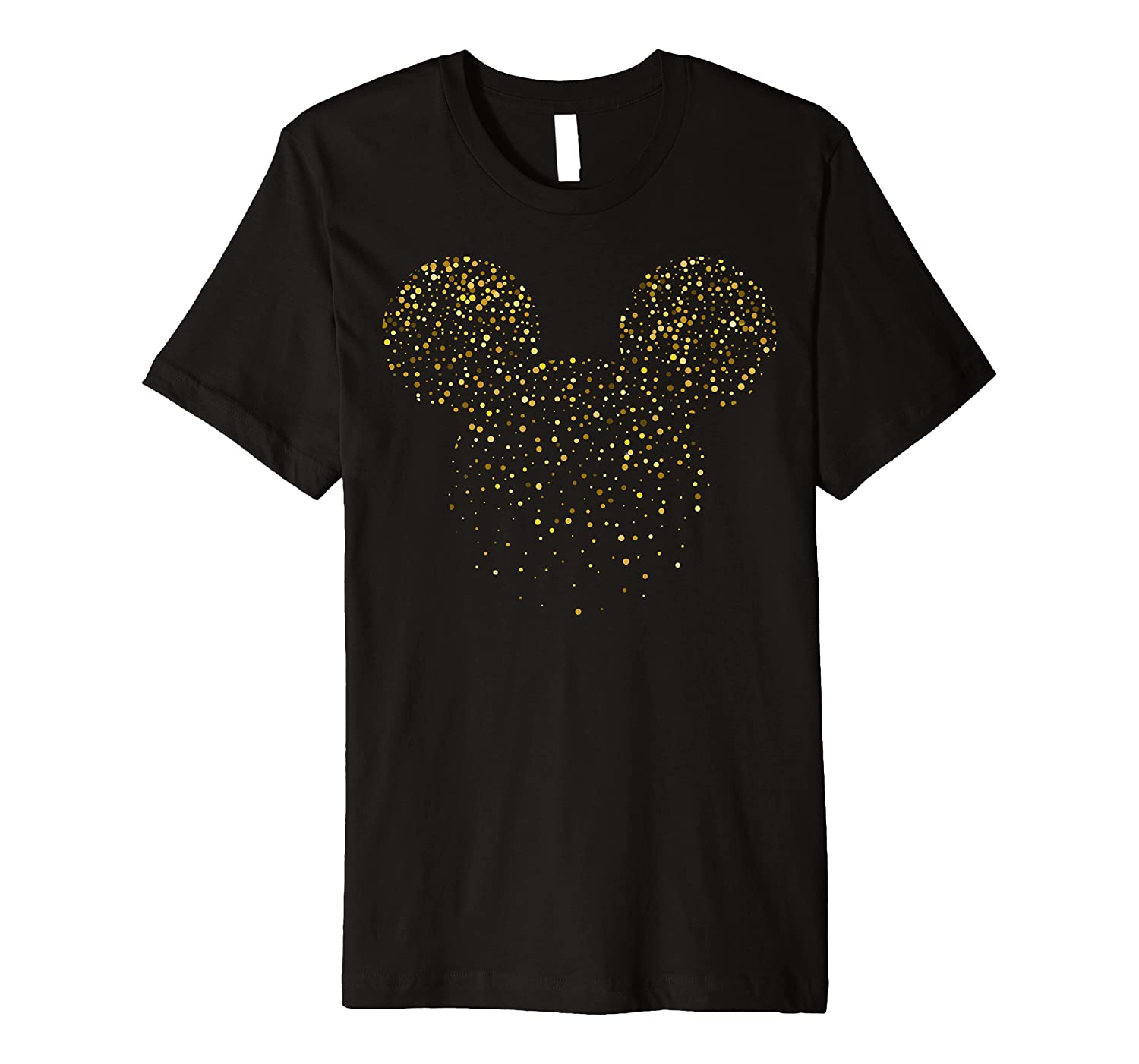 Disney New Years Mickey Mouse Confetti Premium T-Shirt
