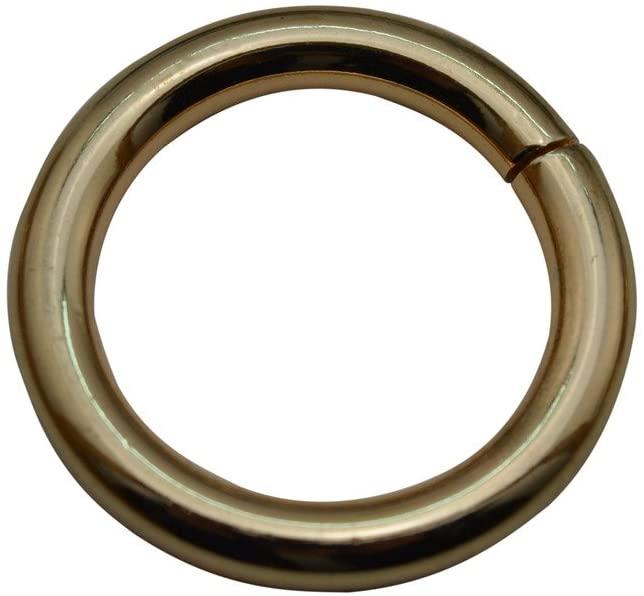 Tianbang Light Golden 1.2 Inner Diameter O Ring Non Welded Pack of 10