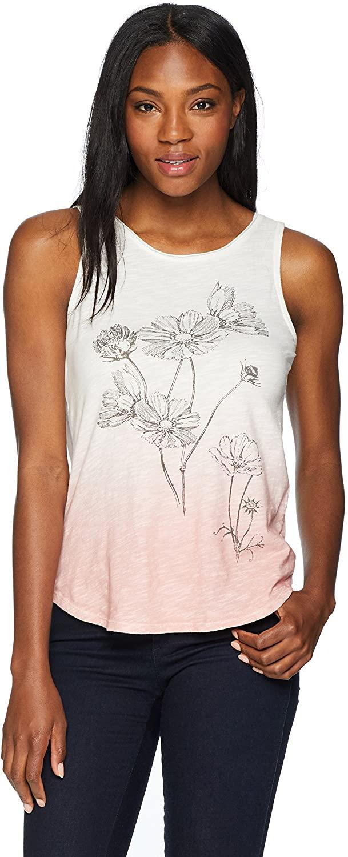 Lucky Brand Womens Flowers Tank Top