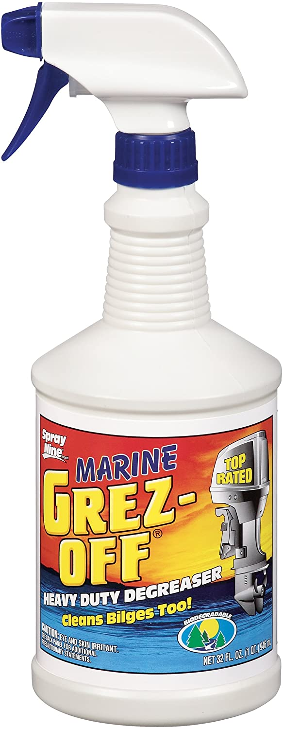 Spray Nine 30232 Grez-Off Marine Cleaner, 32 oz.