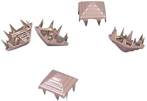 Porcelynne Beige Metal Pyramid Square Decorative Vintage Studs Leathercraft DIY Punk Spikes Spots Studs Goth Nailhead - 9mm - 50 Pieces