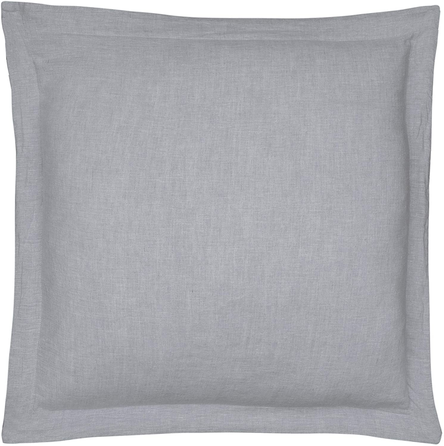 Levtex Home - 100% Linen - Euro Sham - Washed Linen in Light Grey - Sham Size (26 x 26in.)