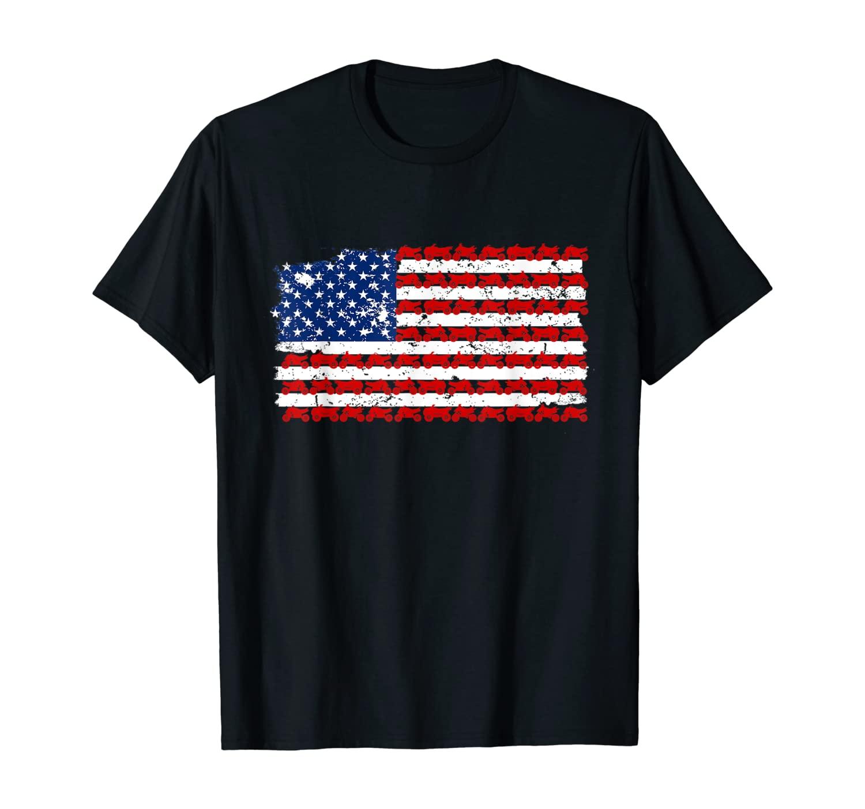American Flag Quad Lover Gift - Vintage Model Quad T-Shirt